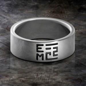 Кольцо с формулой Энергии - серебро