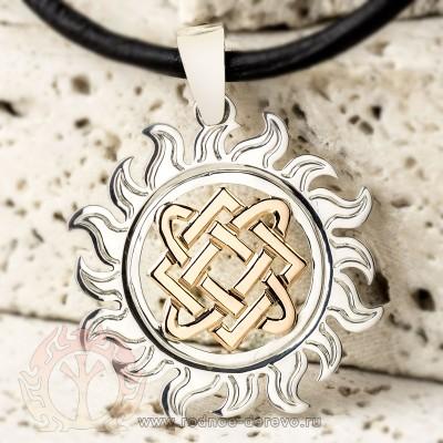 Оберег Лады-богородицы из серебра и золота